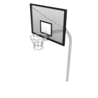 Basketball Hoop with Lattice Backboard