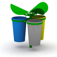 Triple recycling station