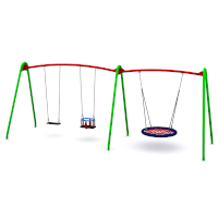 Modular Birds Nest Swing with 3 Seats