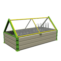 Raised Garden Bed with Cover Premium